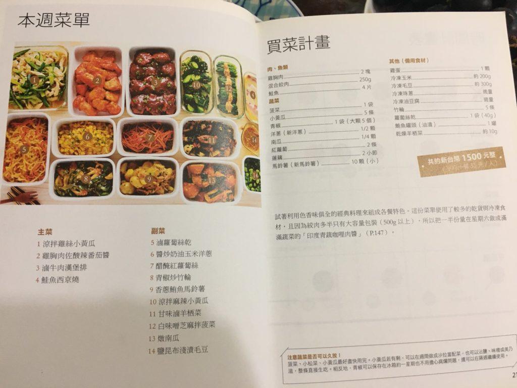 冰箱常備菜的一周菜單