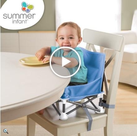 Summer infant小餐椅綁在成人椅子上的樣子