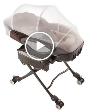 天鵝堡餐搖椅可以用專用蚊帳