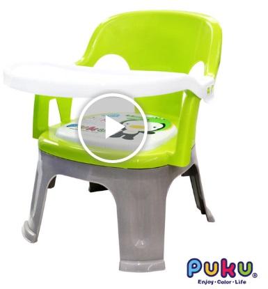 藍色企鵝小餐椅的外觀圖