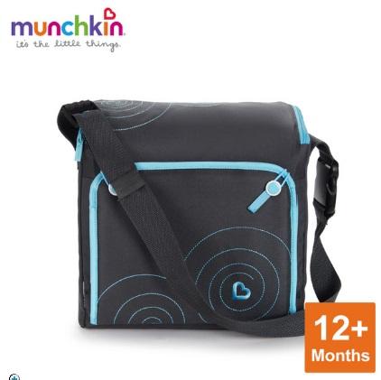 munchkin隨身攜帶餐椅變成包包的樣子