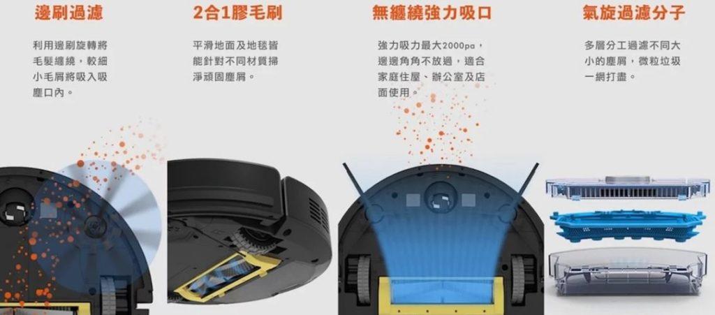 機器人Ilife A9s擬人手搓掃拖機器人特色圖