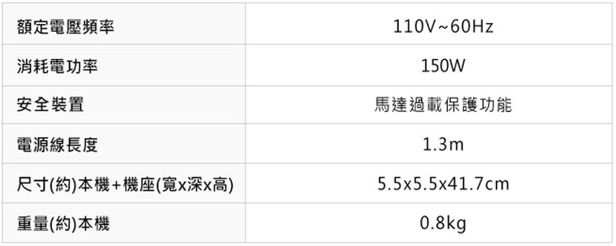 【Panasonic 國際牌】手持式攪拌機/攪拌棒(MX-GS2)商品的規格