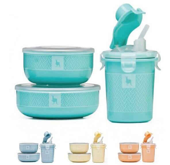 餐具組小袋鼠三件組有四個顏色