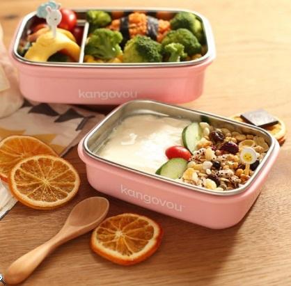 餐具組小袋鼠小餐盒裝食物