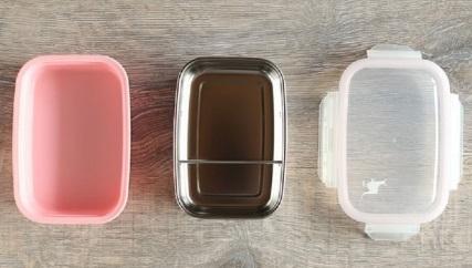 餐具組小袋鼠小餐盒分開來的樣子