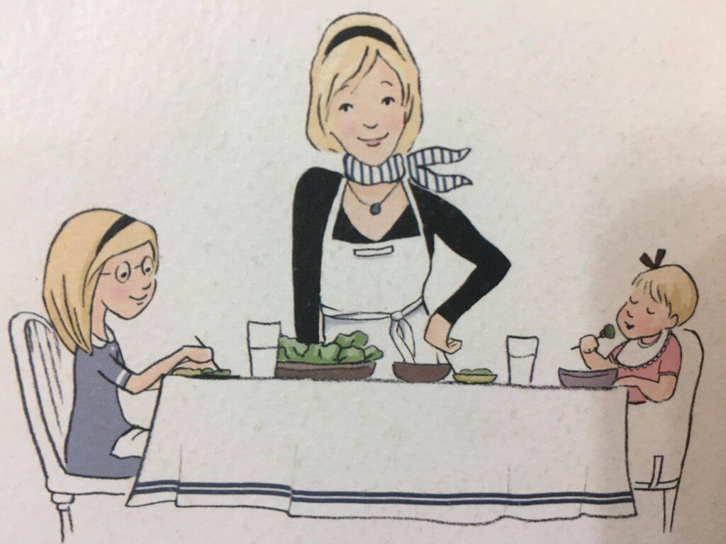 法國餐桌上的食堂食育課,書封面的繪圖