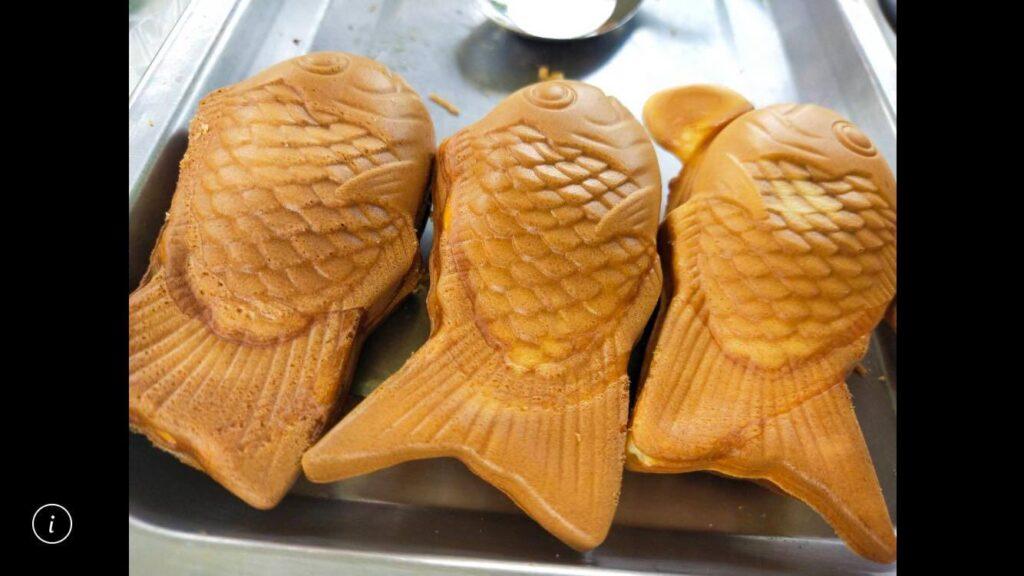 即將爆漿的鯛魚燒成品